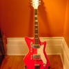 Vintage 1960\'s Airline Jetsons Red Res-O-Glas Electric Guitar