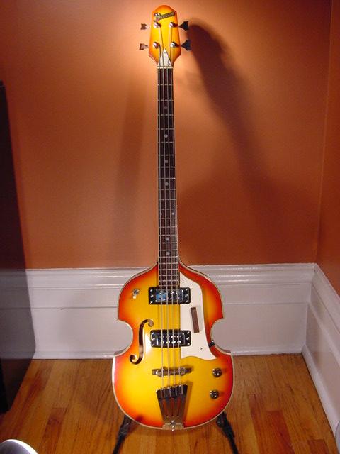 Beatles Guitars: Back Catalog Memories: 1960's Domino Beatle Bass Guitar