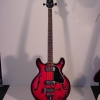 1970\'s UNIVOX Coily Bass Guitar (Red)