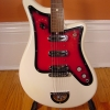 Vintage 1960's Bartolini Avanti Electric Guitar - white