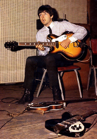 Paul McCartney with his 1962 Epiphone Casino ES-230TD Guitar