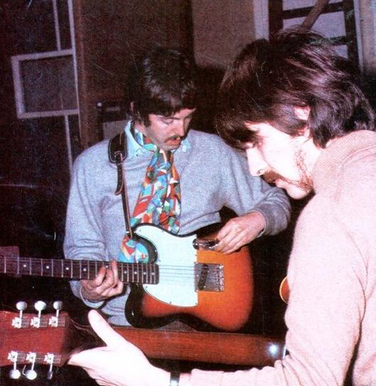 Paul McCartney with his 1964 Fender Esquire Guitar