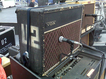 The Edge's 1964 Vox AC30TB (Top Boost) Amp ['64 chassis in a 70's cabinet]