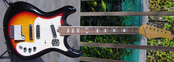 1970's Silvertone Mosrite Ventures Model Guitar (Kawai)