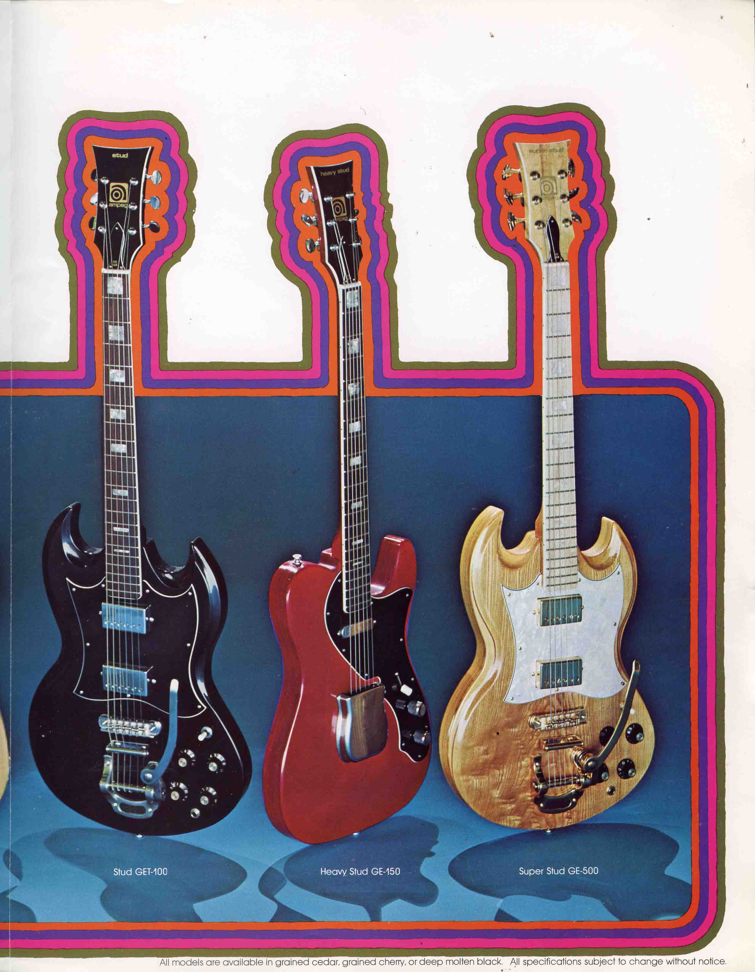 1973 Ampeg Guitars Ad (Stud Series)