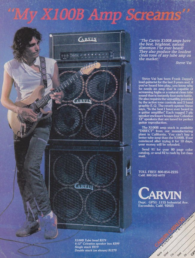 Steve Vai & the Carvin X100B Amp (1983)