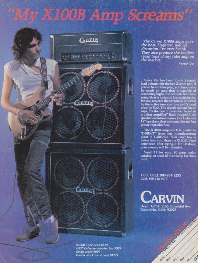 Steve Vai & the Carvin X100B Amp (1983)
