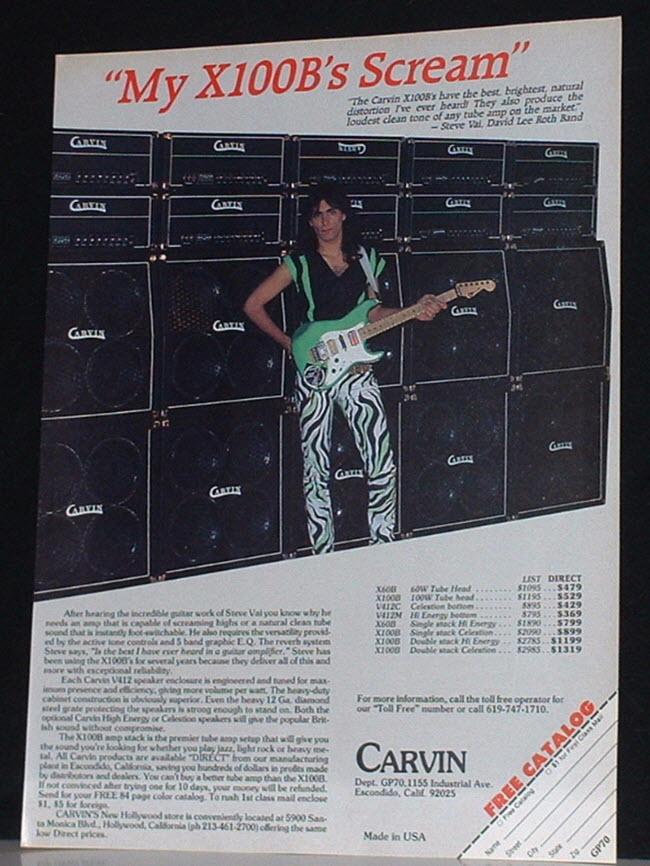 Steve Vai & the Carvin X100B Amp (1986)