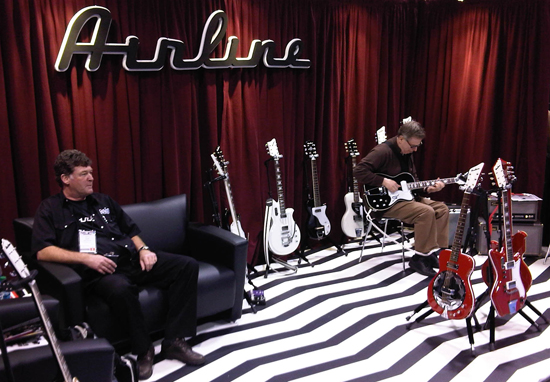 The Airline Guitars Booth at Winter NAMM 2011