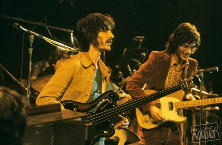 Ricky Danko and his Ampeg AUB-1 bass