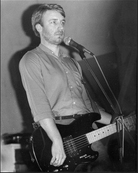 Peter Hook and his Shergold bass with Joy Division