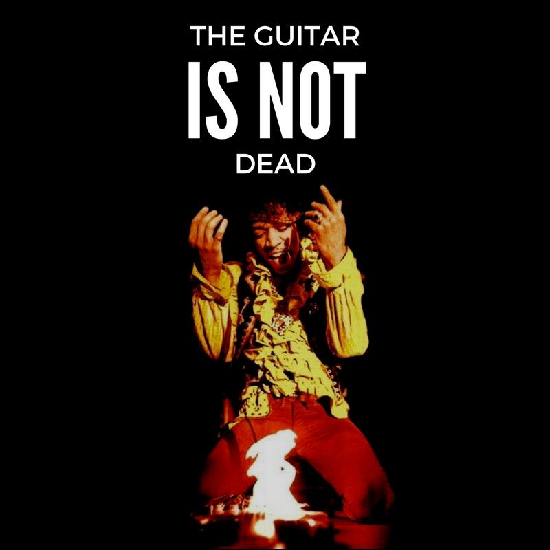 Jimi Hendrix guitar on fire
