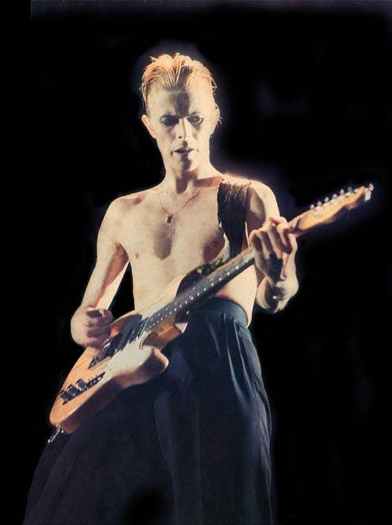 Bowie and a customized Fender Telecaster