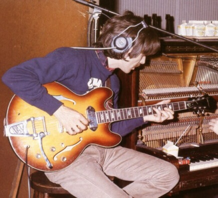 George Harrison and his EPiphone Casino