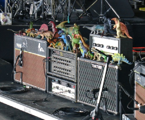 Toy Dinosaurs on the R.E.M. amps