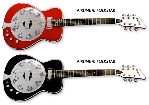 Airline Folkstar Resonator Guitar