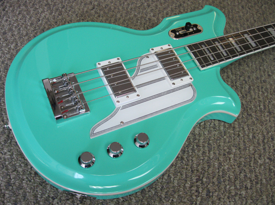"The NEW 34"" scale Airline Map Bass in Seafoam Green!"