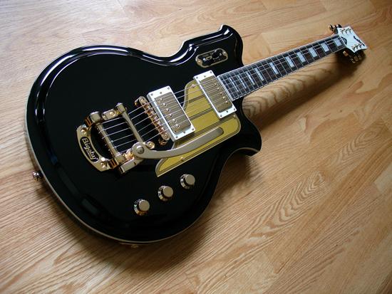Airline Map Electric Guitar (Custom Color: Black)