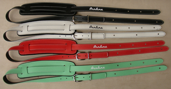 Custom Airline Vintage Guitar Straps (Leather)
