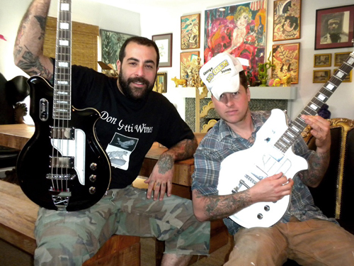 Design Star's Antonio Ballatore &Timothy Gruse (Airline Map Guitar & Bass)