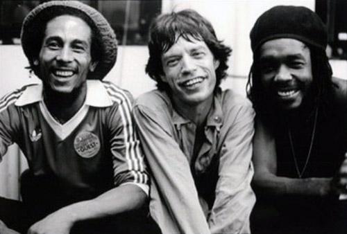 Bob Marley, Mick Jagger & Peter Tosh (1978)