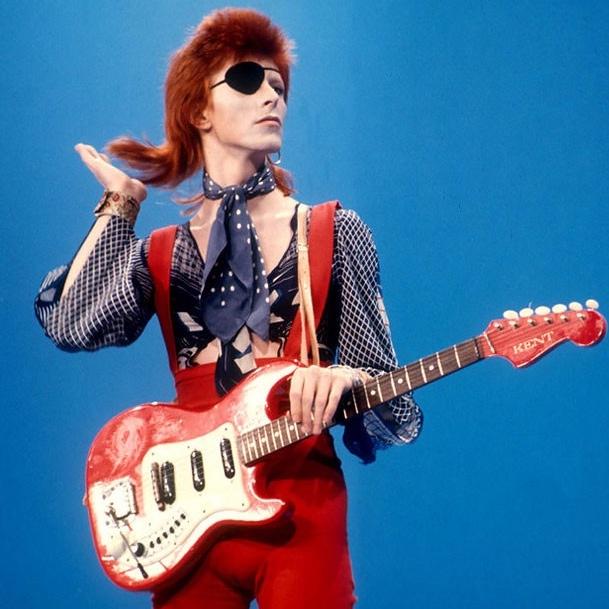 David Bowie red guitar