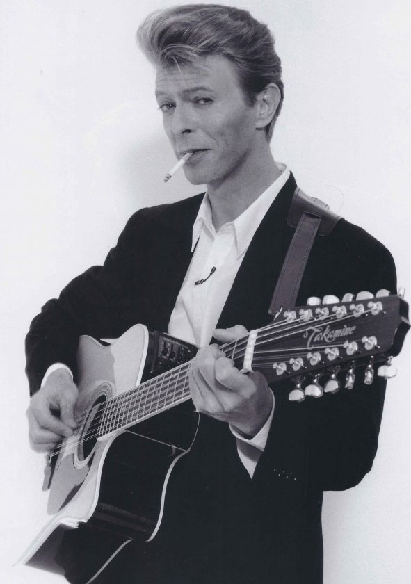 Bowie and his 12-string Takamine