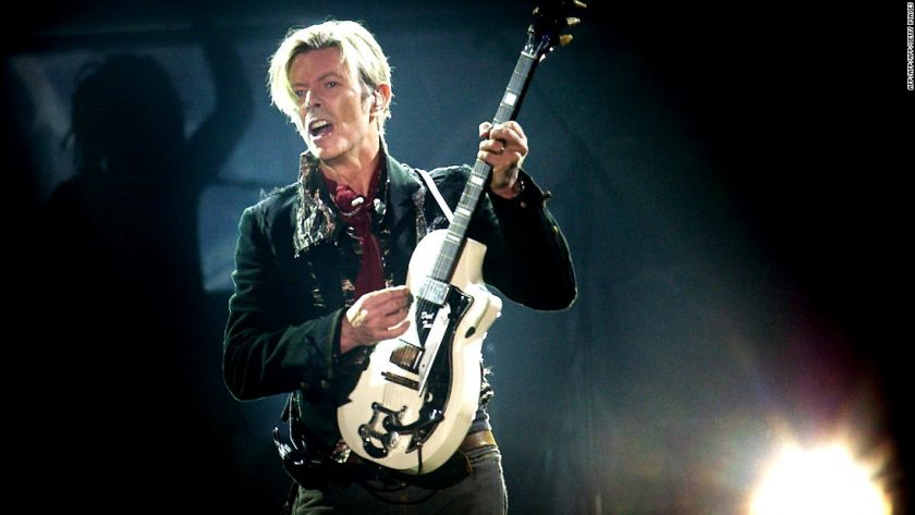 Bowie and his Supro Dual Tone