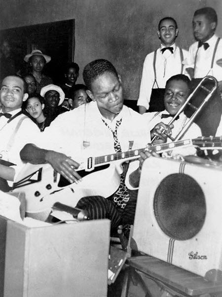 Charlie Christian & his 1930's Gibson EH-150 Guitar Amp