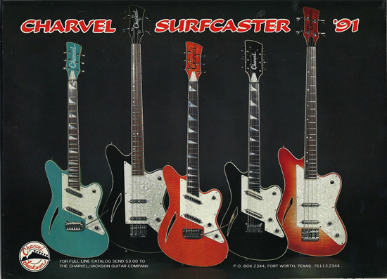 Charvel Surfcaster Guitar & Bass Ad (1991)