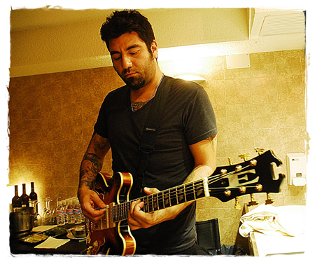 Deftones: Chino Moreno with his Eastwood Joey Leone Signature Guitar