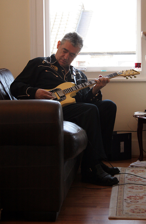 Our first day in London included a visit with Chris Spedding