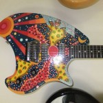 Custom Painted Eastwood Breadwinner Guitar
