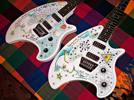 Bill Nelson's Custom Painted Eastwood Breadwinner Guitars