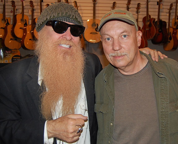 Dave Hinson with ZZ Top's Billy Gibbons