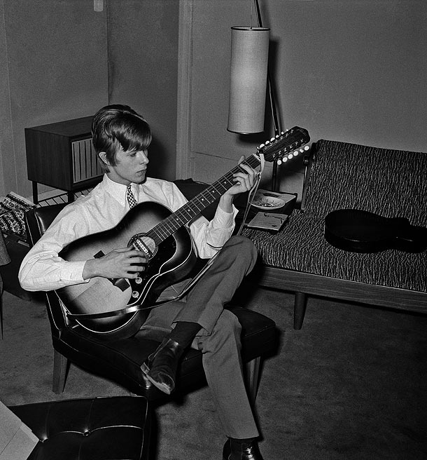 David Bowie circa 1965-66 with Framus 12 string