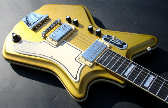 Eastwood Airline 2P Limited Edition 50th Anniversary Electric Guitar (Metallic Gold)