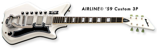 Airline '59 Custom 3P Guitar (White Finish)