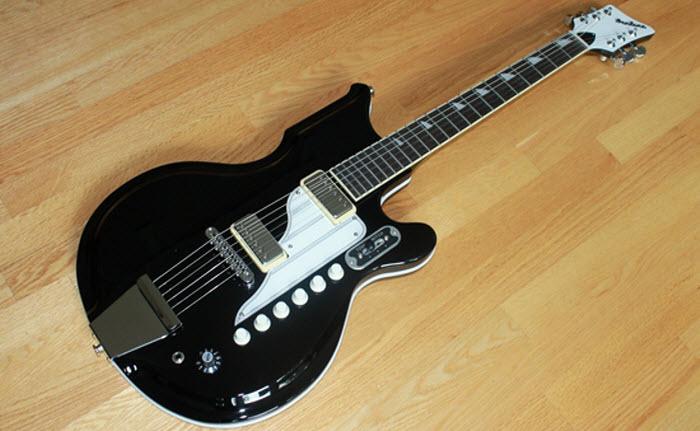 Eastwood Airline '59 Newport Guitar (Black)