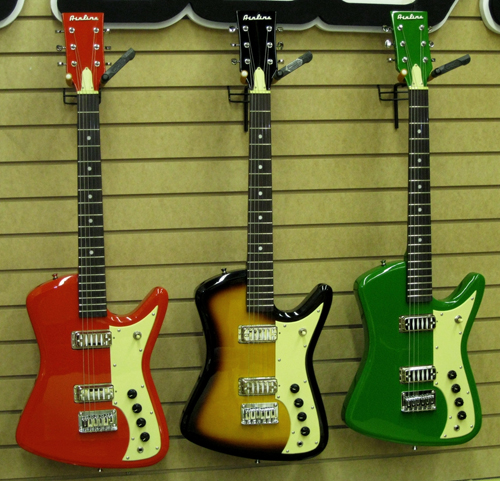 New from Eastwood Guitars: The Airline Bighorn Electric Guitar (Red, Sunburst & Green finishes)