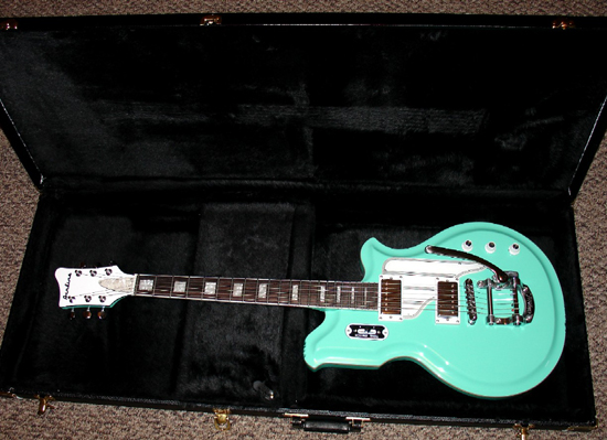 Eastwood Airline Map Guitar (Surf Green)