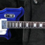 Limited Edition Airline Map Guitar in Electric Indigo