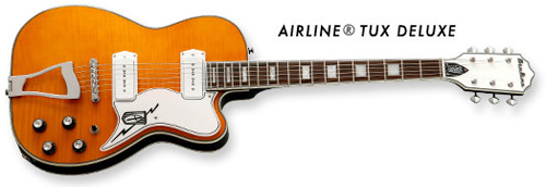 Eastwood Airline Tux Deluxe Electric Guitar (Natural Finish)