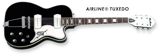 Airline Tuxedo Guitar (Black Finish)