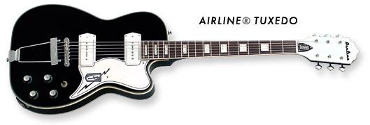 Airline Tuxedo Guitar (Black Finish)