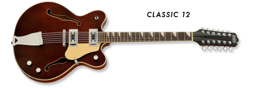 Eastwood Classic 12-String Guitar (Walnut Finish)
