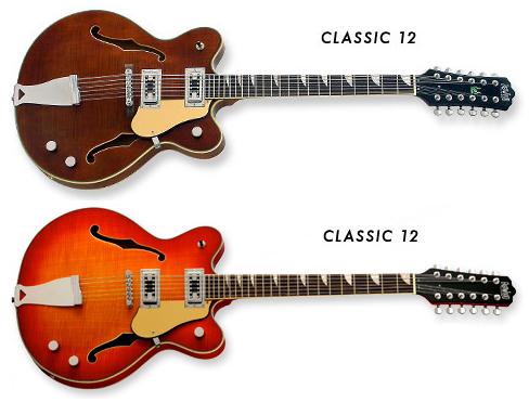 Eastwood Classic 12 12-String Guitar (Walnut, Fireburst)