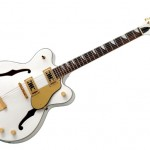 Eastwood Classic 12 Guitar in White Finish with Gold Hardware (12-String Guitar)