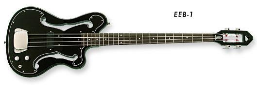 Eastwood EEB-1 Bass Guitar (Black Finish)