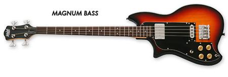 Eastwood Magnum Electric Bass Guitar in Sunburst (Left-Handed)